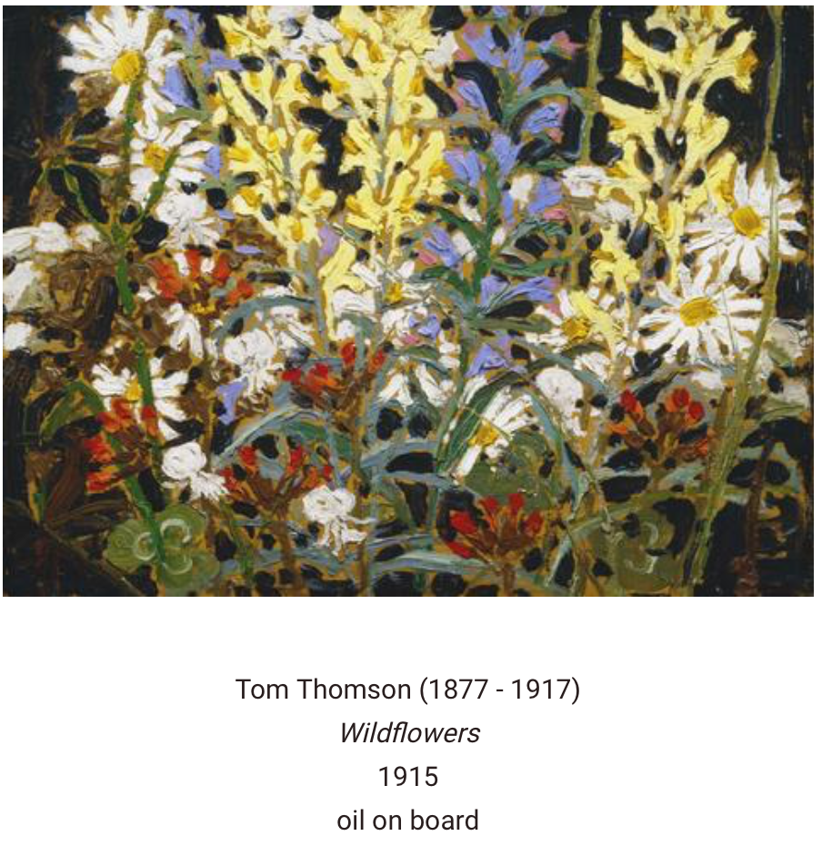 "Tom Thomson, ""Widflowers"" scarf"