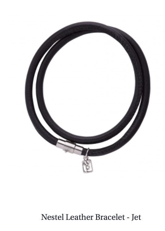 Nestel Black leather bracelet-Waxing Poetic