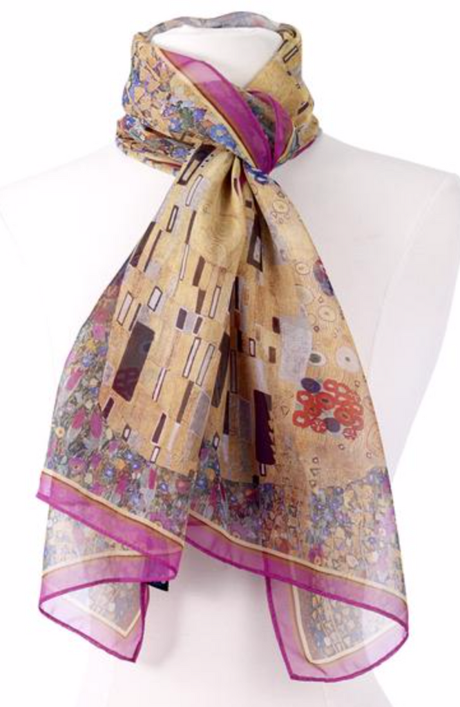 The Kiss by Klimt scarf