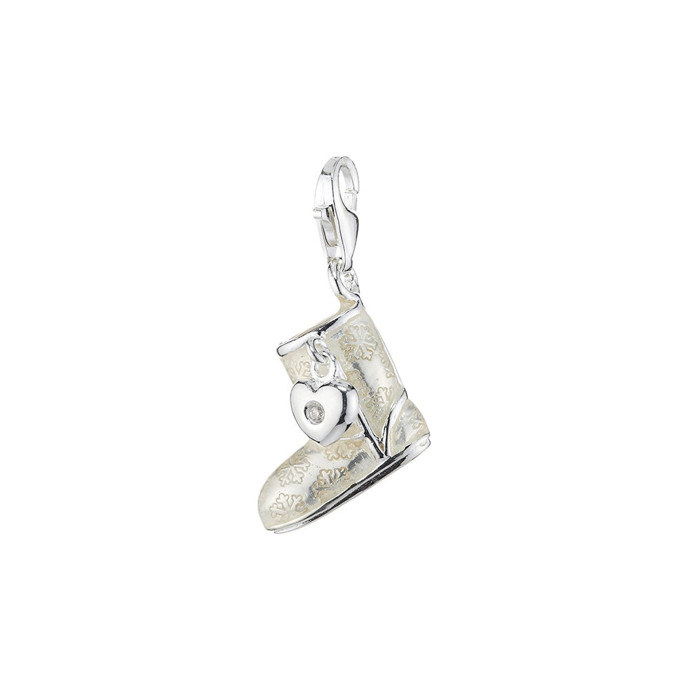 Thomas Sabo - Silver Uggs with Heart Dangle