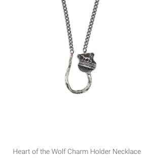 Pyrrha - Heart of the Wolf Charm Holder Necklace