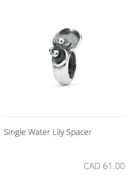 Trollbeads - Single Water Lily Spacer