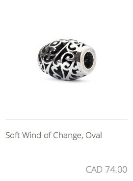 Trollbeads - Soft Wind of Change, Oval