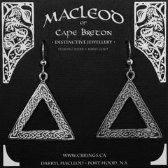 E-101A Celtic Triangle Earrings
