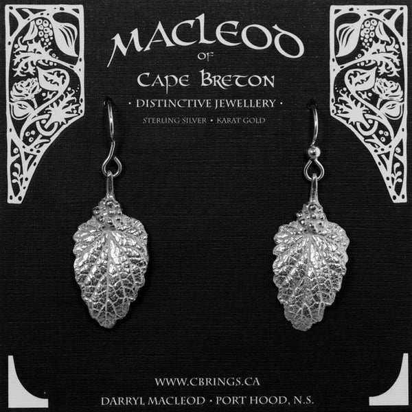 E-219A Catnip Leaf Adorned Earrings