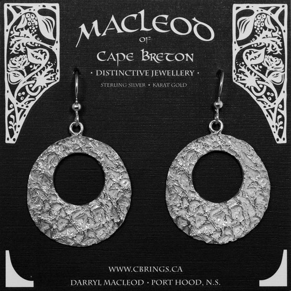E-909 Cantaloupe Textured Earrings, Large