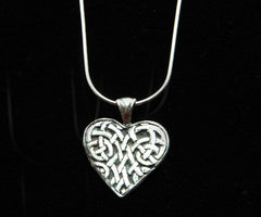 P-112 Celtic Heart Pendant