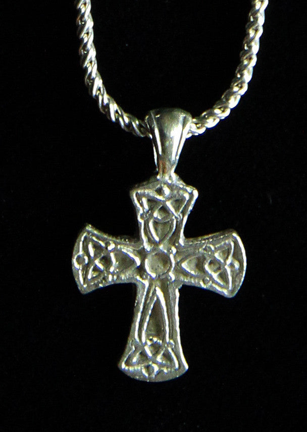 necklace charm cross celtic rose gold pendant