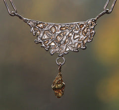 P-026 Cantalope Gold Nugget Necklace