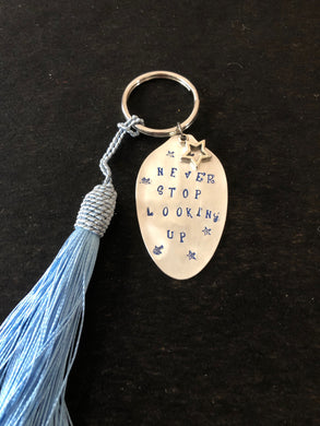 Key Chains - Inspirations stamped onto upcycled spoons