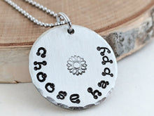 Load image into Gallery viewer, Pewter, Stainless Steel Round Pendants with Inspirational Messages