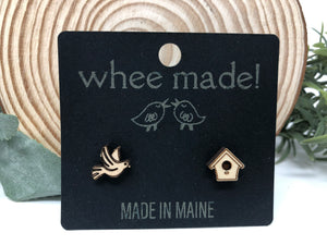 Post Earrings by whee made! (North Berwick, Maine)