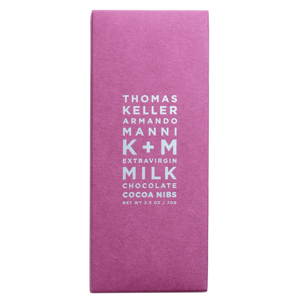 K + M Extravirgin Milk Chocolate: Cocoa Nibs