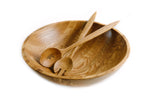 The Wooden Palate Salad Bowl and Server Set