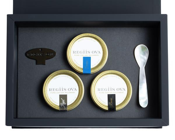 The Temptuous Trio Regiis Ova Caviar Set
