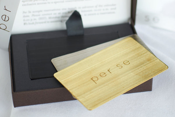 Per Se Gift Experience Card