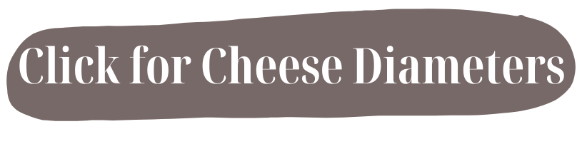 click on the link for cheese diameters for wedding cheese cakes