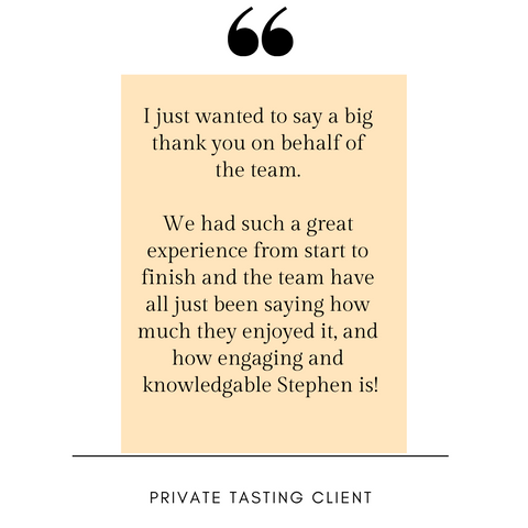 client review of private tastings