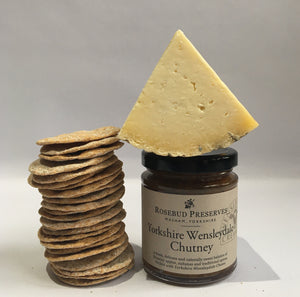 wensleydale cheese, chutney and crackers - yorkshire cheese hamper