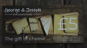 george and joseph cheesemongers £5 gift voucher