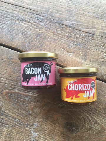 eat 17 bacon jam and chorizo jam