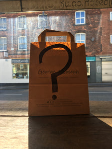mystery bag of cheese, chutney and crackers from george and joseph cheesemongers
