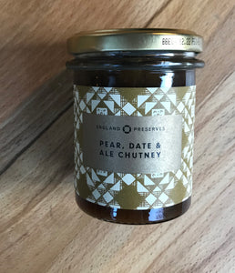 england preserves pear, date and ale chutney