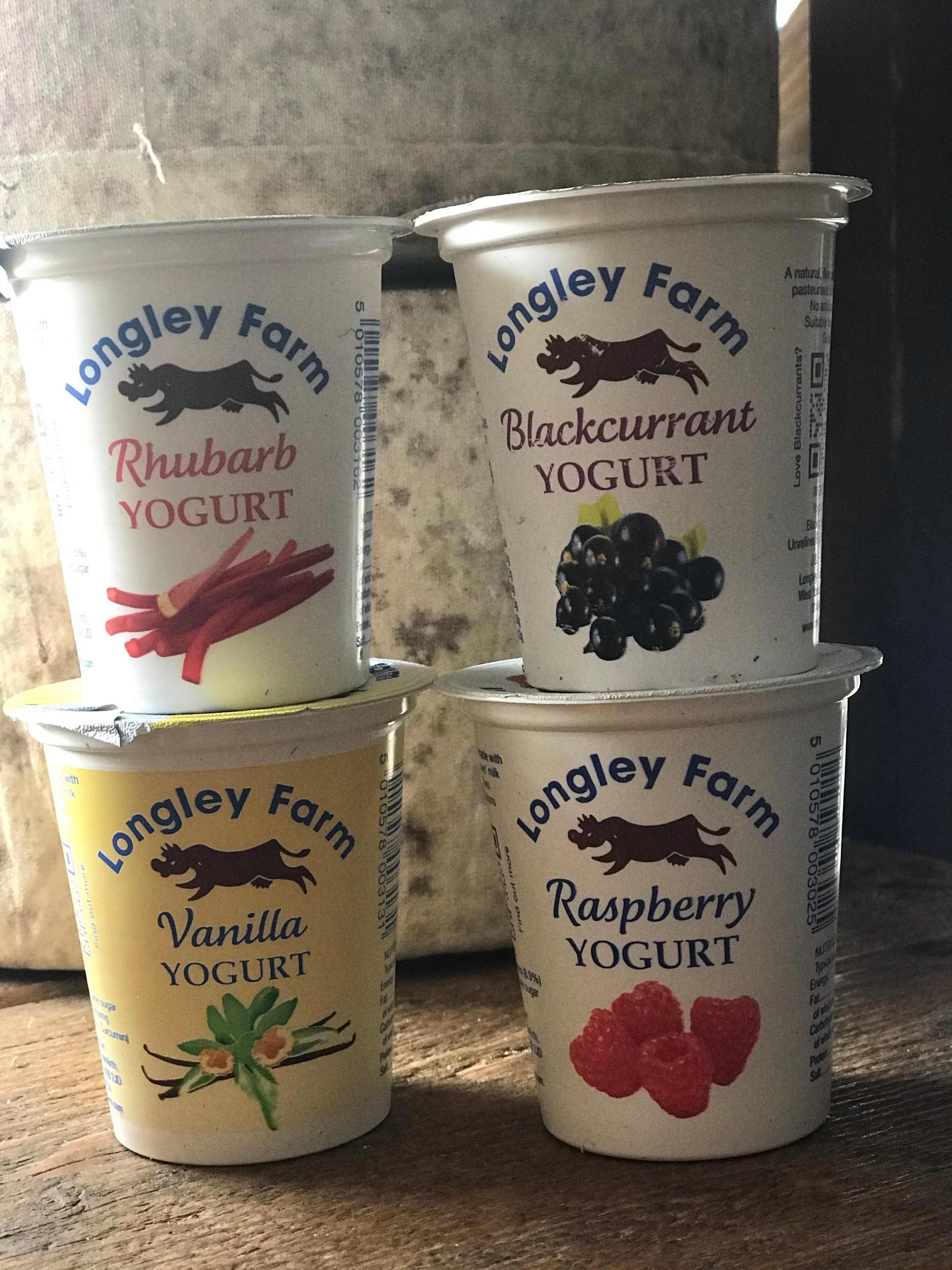 Longley Farm 4 Pack Flavoured Yoghurt Pots 125g