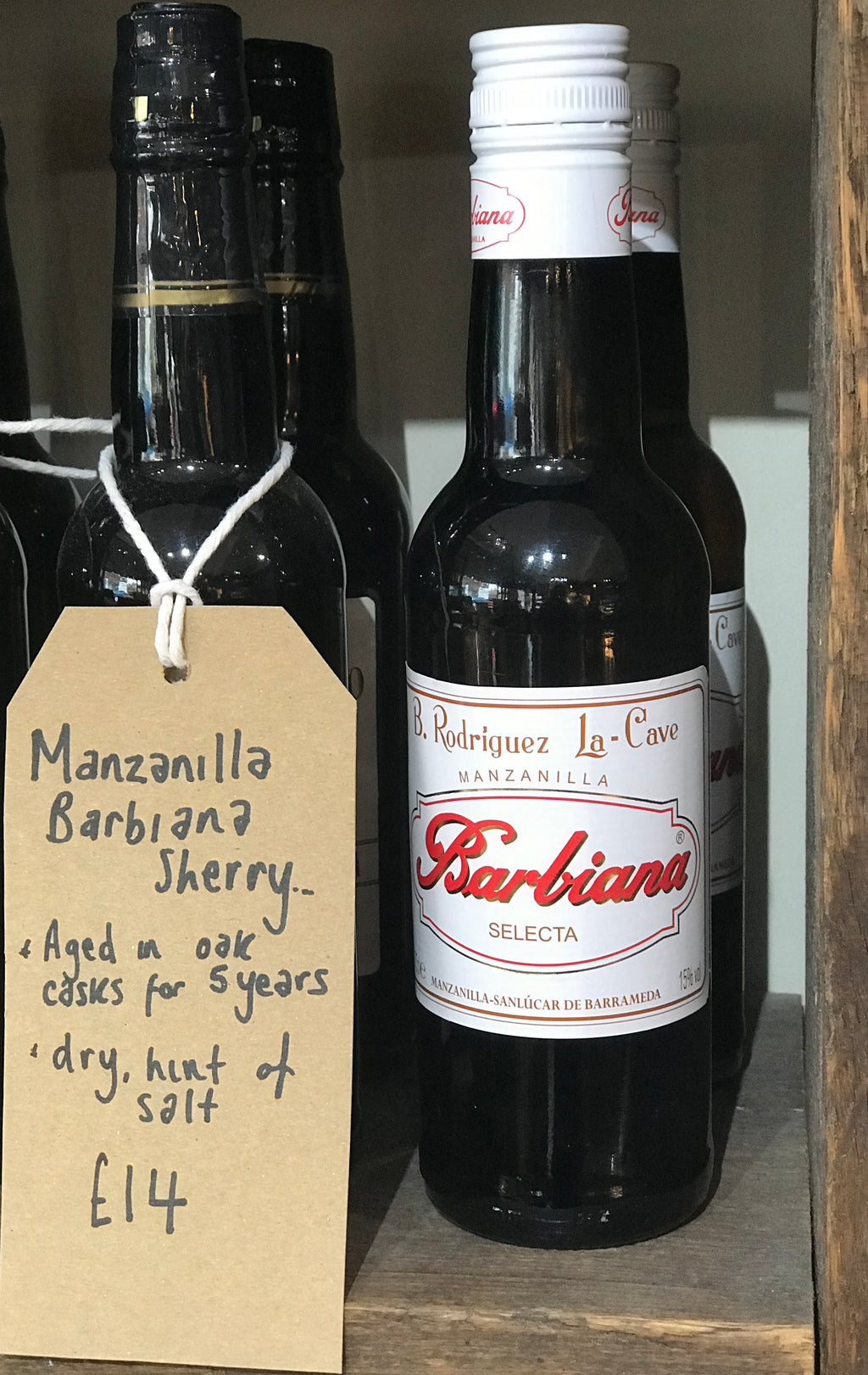 manzanilla sherry half bottle