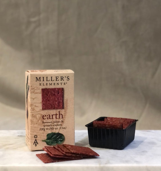 millers elements earth crackers with beetroot
