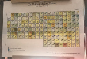 periodic table of cheese poster