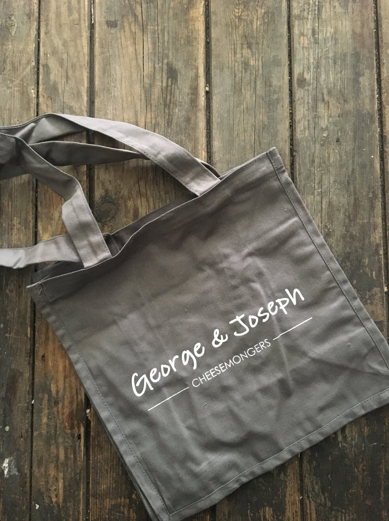 george and joseph cotton grey tote bag