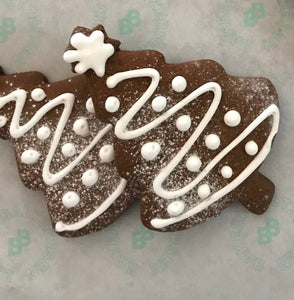 christmas tree gingerbread cookies