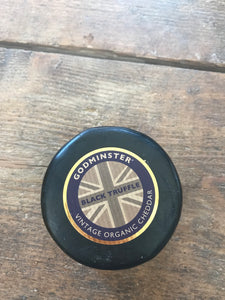 godminster vintage somerset cheddar with truffles 200g wax truckle