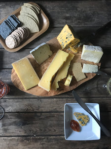 yorkshire cheeseboard and wine