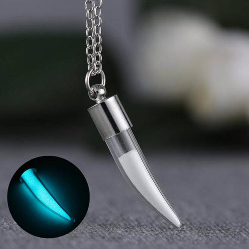 Ivory-shaped noctilucent necklace