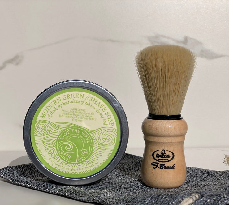 Basic Shave Kit (Shave Soap 4oz + Brush)