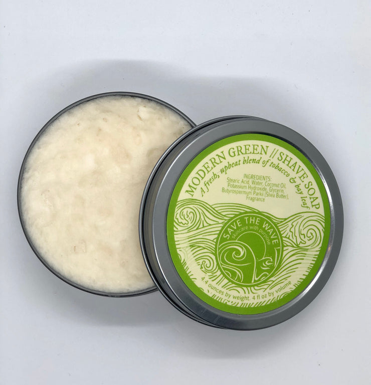 Modern Green Shave Soap (4 oz)