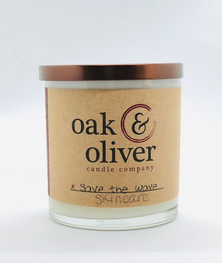 Oak & Oliver Save The Wave Skincare Candle