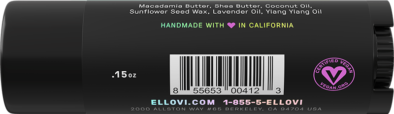 Ellovi Lip Butter - Lavender - Back