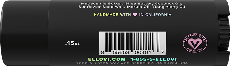 Ellovi Lip Butter - Original - Back