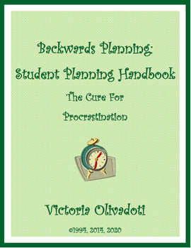 Backwards Planning Workbook-Cure For Procrastination