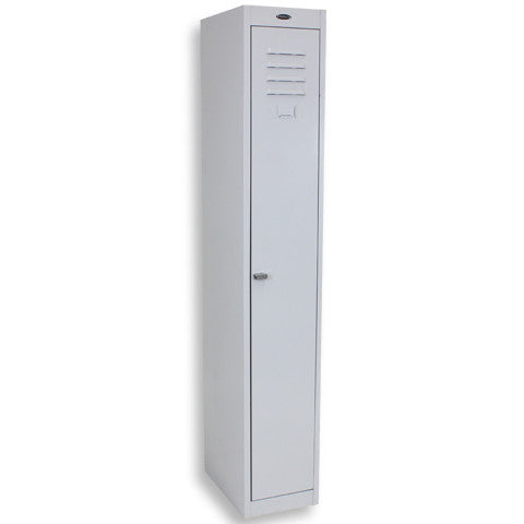 1 Door Steelco Locker, Closed, Grey
