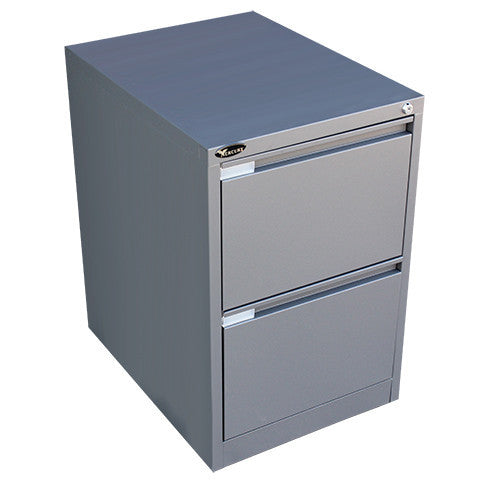 Graphite Ripple Mercury 2 Drawer Filing Cabinet