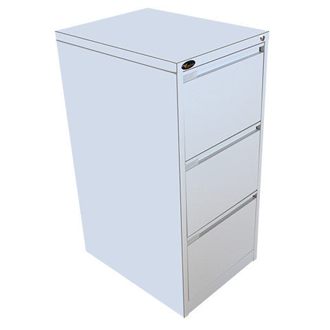 Grey Mercury 3 Drawer Filing Cabinet