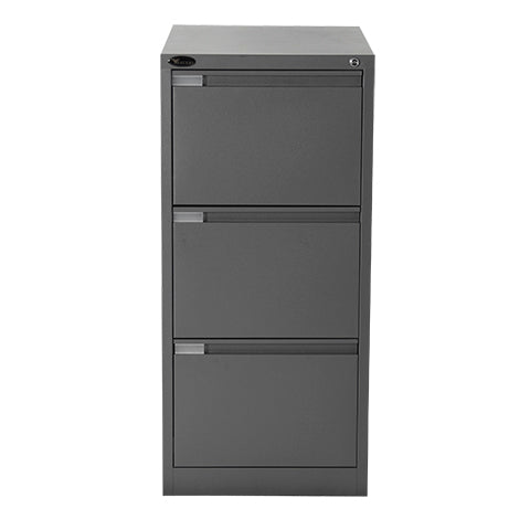 three drawer mercury vertical filing cabinet graphite ripple