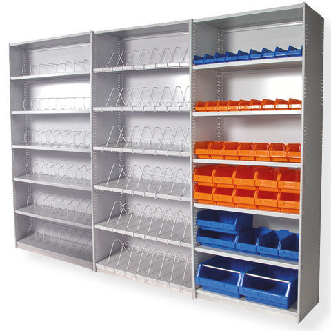 Uni Shelving set up 3 bays with accessories