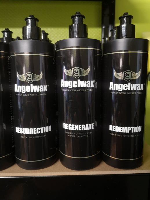 Angelwax resurrection, regenerate and redemption compounds 500ml (price per individual bottle*)