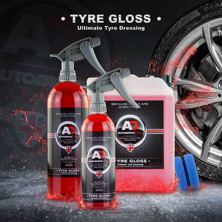 Autobrite Tyre Gloss - Ultimate High Gloss Tyre Dressing.