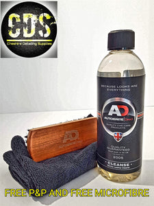 Autobrite Leather cleanse 500ml with brush and free microfiber